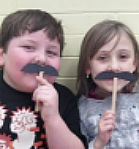 "Grade 1 - I ""moustache"" you a question"